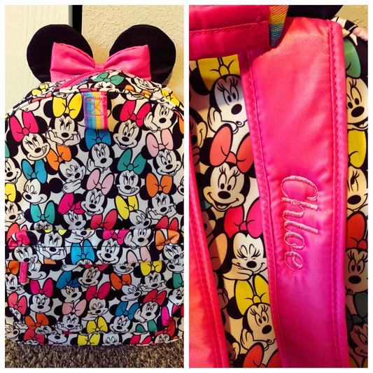 d1a5e41dc1 Minnie Mouse Rainbow Backpack - Personalizable