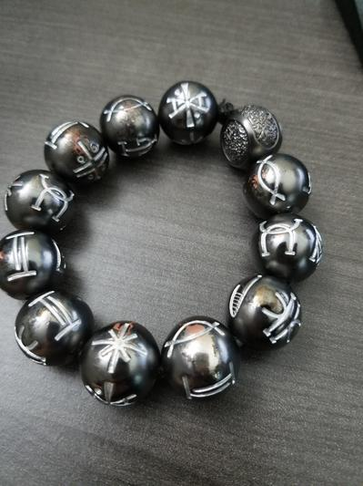 18e5ccaf6d7fb5 Black Panther Kimoyo Bead Bracelet by RockLove | shopDisney