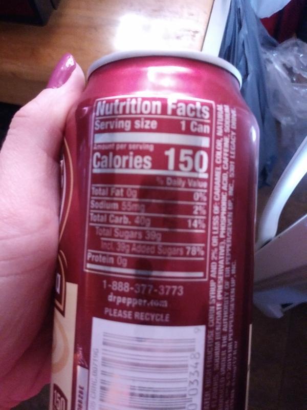 Dr Pepper Nutritional Fact