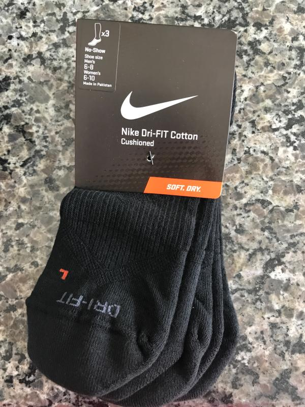 170b429e151842 Nike Dri-FIT Half Cushion No Show Socks 3 Pack | DICK'S Sporting Goods