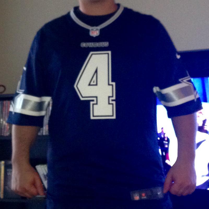 Nike Men's Dallas Cowboys Dak Prescott #4 Navy Game Jersey ...
