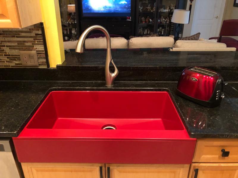 Elkay Quartz Luxe 35 7 8 X 20 15 16 X 9 Single Bowl Farmhouse Sink With Perfect Drain
