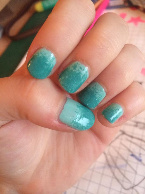 naughty nautical - blue green nail polish & nail color - essie