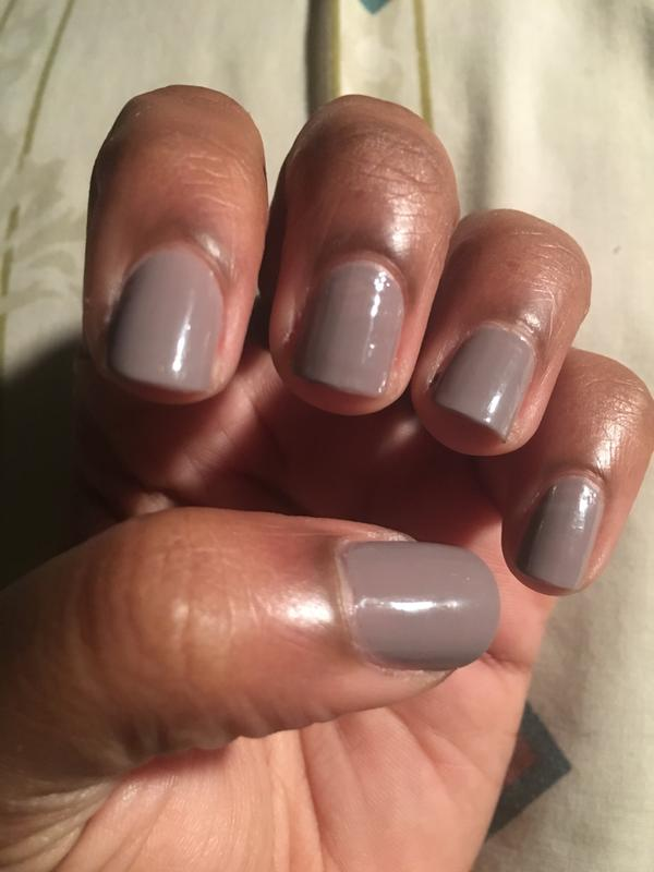 Two Coats Of Essie Chinchily With Gel Top Coat Seems Brownish