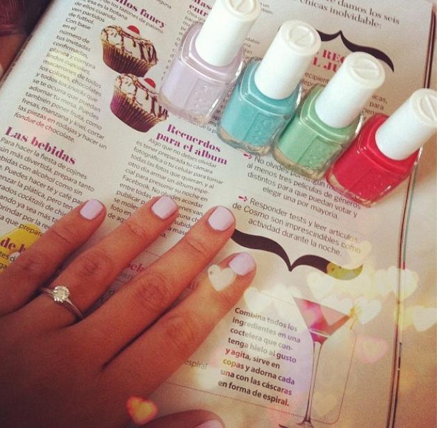 go ginza - soft light pink nail polish & nail color - essie