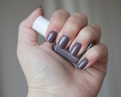 Merino Cool Mulberry Purple Grey Nail Polish Nail Color Essie