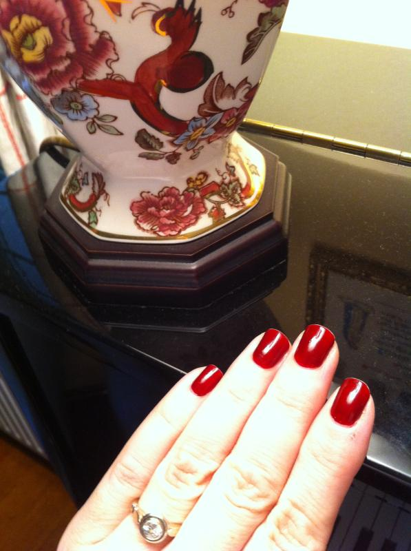 bordeaux - deep wine red nail polish, nail color & lacquer - essie