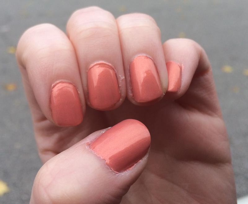 oh behave! - winter peach nail polish & nail color - essie