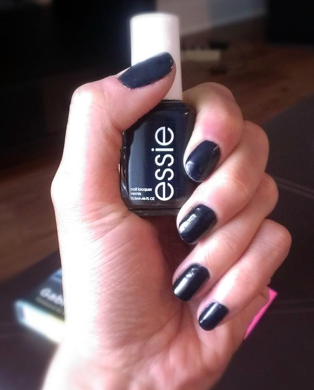 after school boy blazer - blue black nail polish & nail color - essie