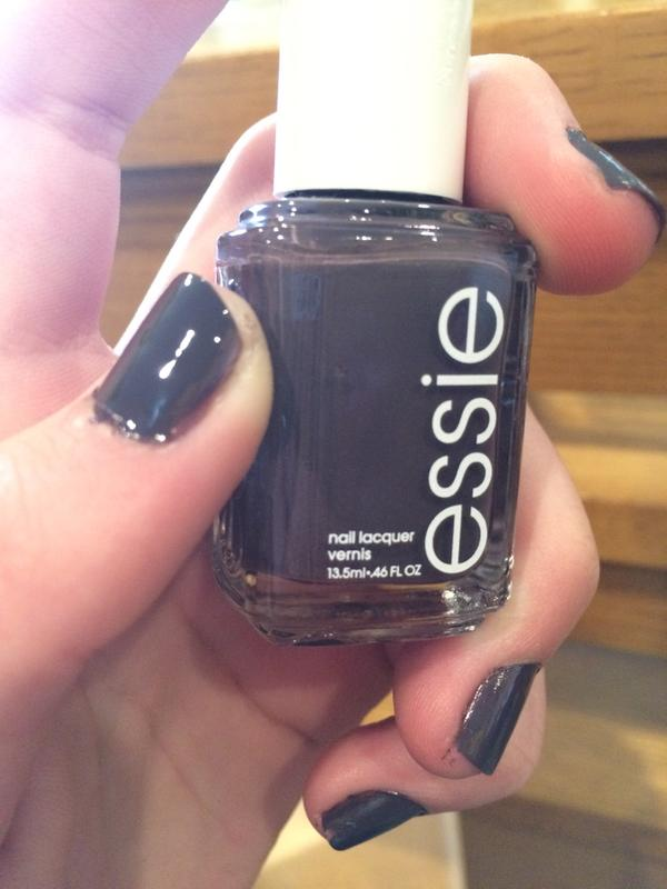 smokin\' hot - dark purple gray nail polish & nail color - essie