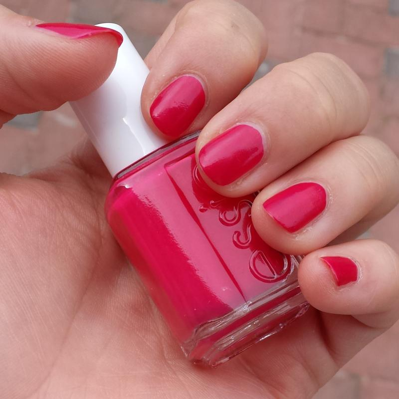watermelon - creamy pink red nail polish, nail color & lacquer - essie