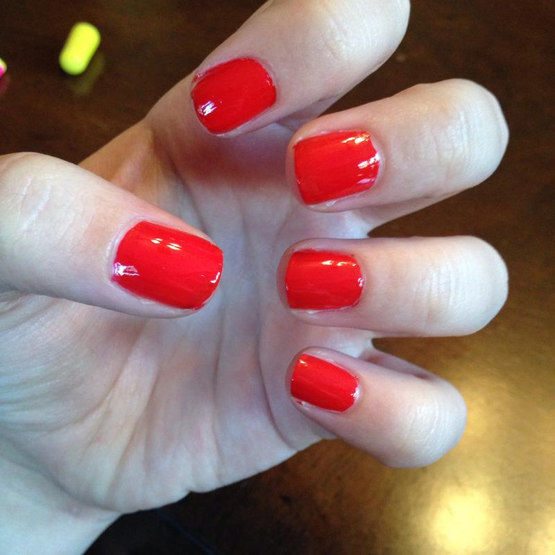 geranium - red-orange nail polish, nail color & nail lacquer - essie