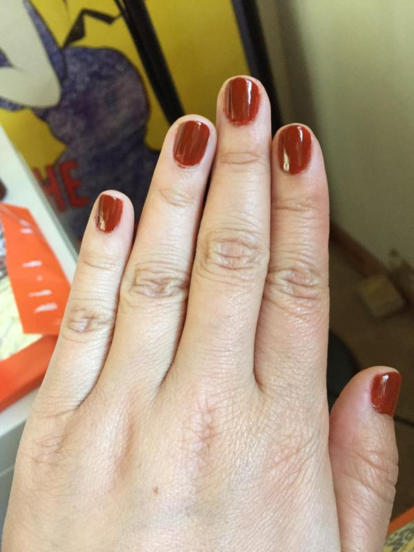playing koi - orange rust brown nail polish, color & lacquer - essie