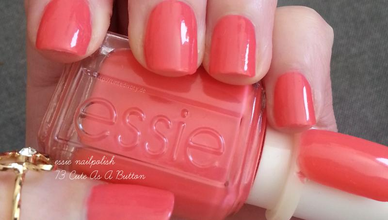 cute as a button - persimmon pink nail polish & nail color - essie