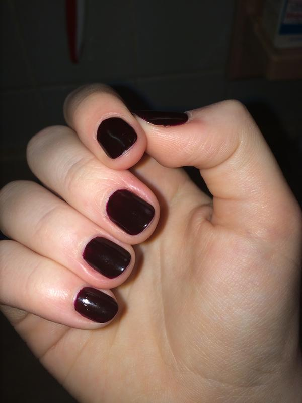 wicked - deep & dark creamy red nail polish & nail color - essie