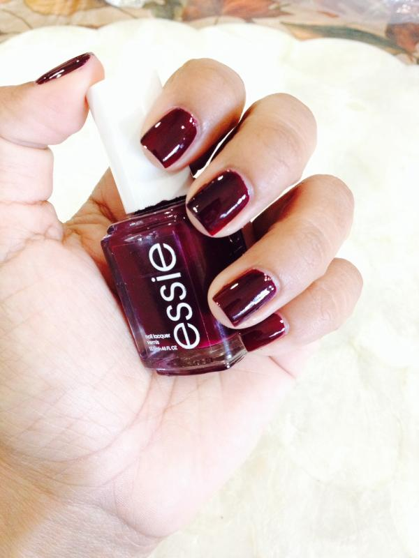 berry naughty - creamy, dark red nail polish, color & lacquer - essie