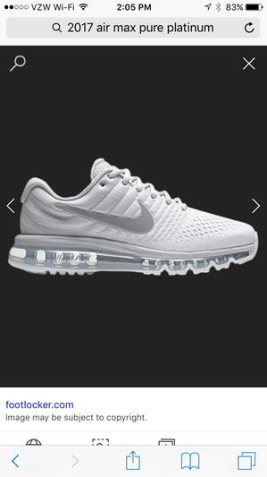 air max 2017 foot locker