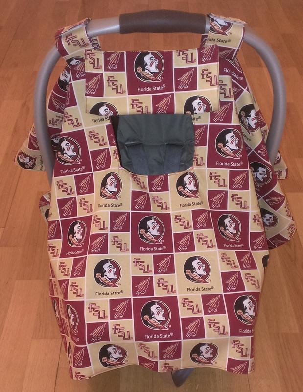 FSU car seat cover canopy & Collegiate Cotton Broadcloth Florida State - Discount Designer ...