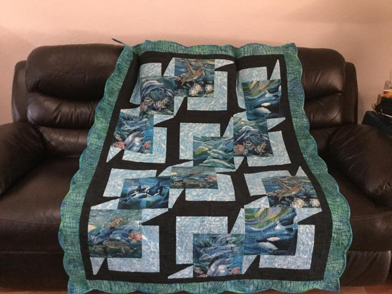 North American Wildlife Panel Sealife Ocean Fabric