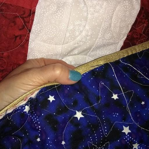 Glow In The Dark Star Magic Blue Cotton Fabric By The Yard by Michael Miller