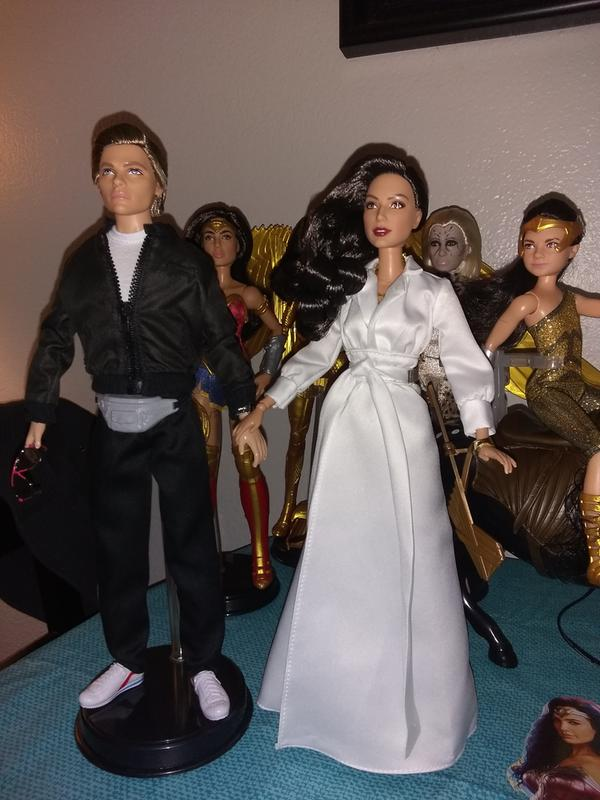 Barbie Doll Accessory  WIDE GOLD WONDER WOMAN STYLE Bracelets Only