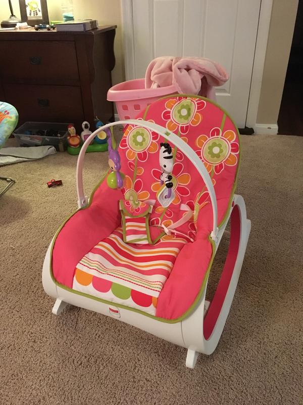 Infant To Toddler Rocker Geo Diamonds Cmp83 Fisher Price