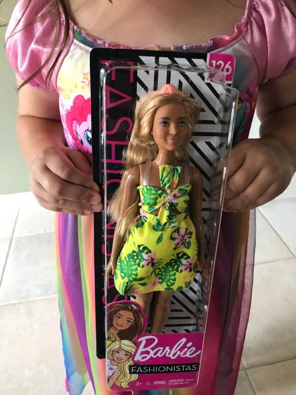 # 126 Curvy Body Type with Tropical Dress New Barbie Fashionistas Doll