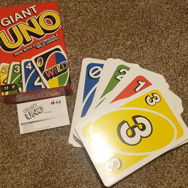 IN HAND NEW * Classic Giant UNO Cards Mattel Games UNO