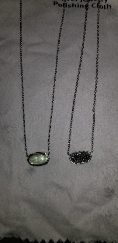 d332b7acbfbfa6 Elisa Gold Pendant Necklace in Drusy