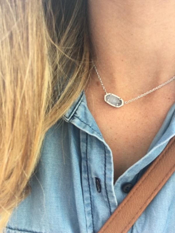 Elisa Silver Pendant Necklace in Clear Crystal | Kendra Scott