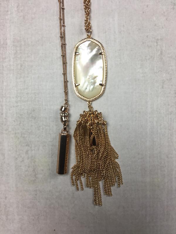 Rayne Gold Long Pendant Necklace Rose Quartz Kendra Scott
