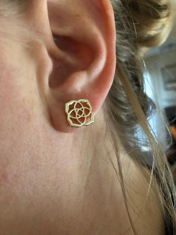 4a6ae8b9c Gold studs. Originally posted on Dira Stud Earrings ...
