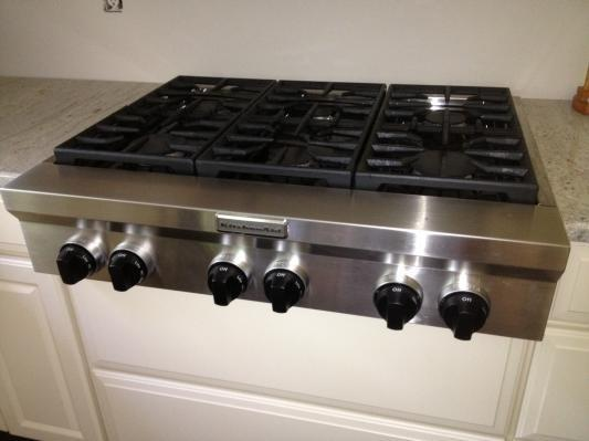 Stainless Steel 36 Inch 6 Burner Gas Rangetop Commercial Style