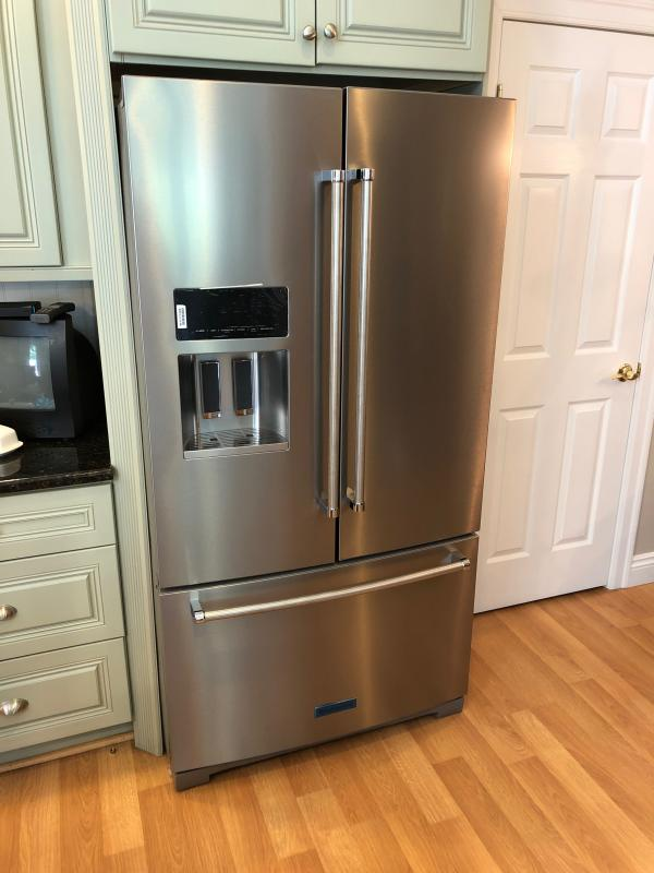 Kitchenaid 26 8 Cu Ft French Door Refrigerator In Stainless