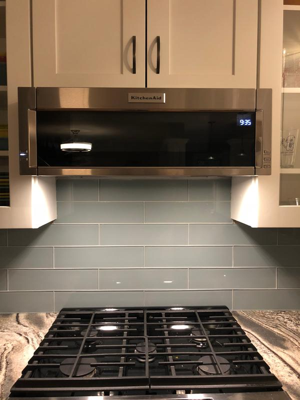 Stainless Steel 1000 Watt Low Profile Microwave Hood Combination