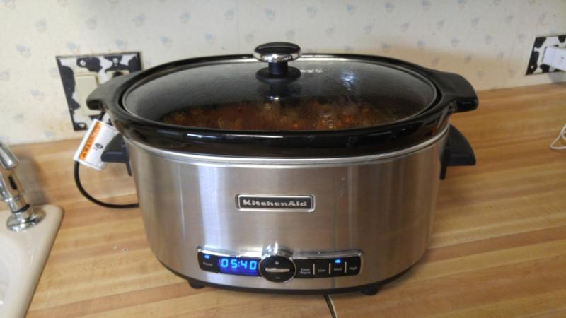 Stainless Steel 6 Quart Slow Cooker With Solid Glass Lid Ksc6223ss