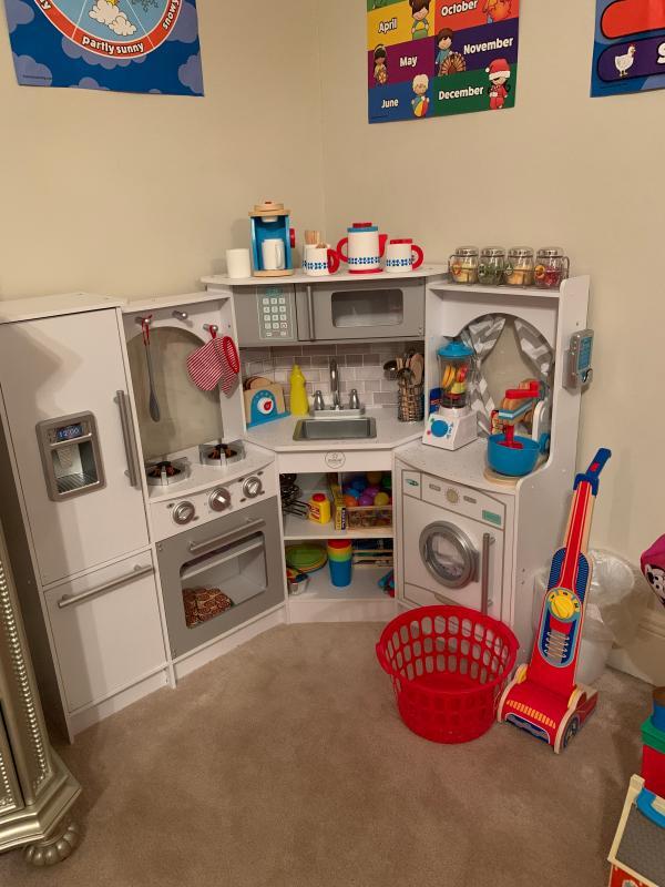 Ultimate Corner Play Kitchen With Lights Sounds Kidkraft