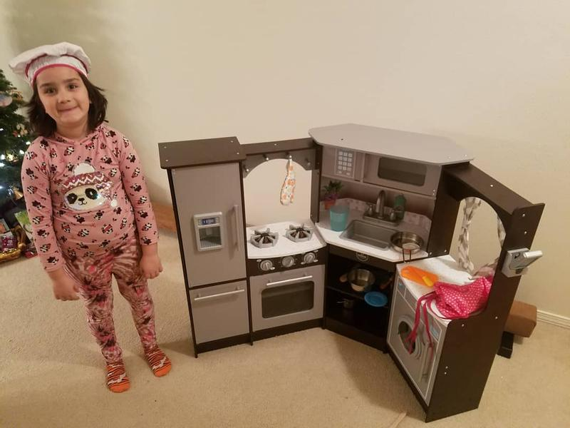 Ultimate Corner Play Kitchen With Lights Sounds Espresso