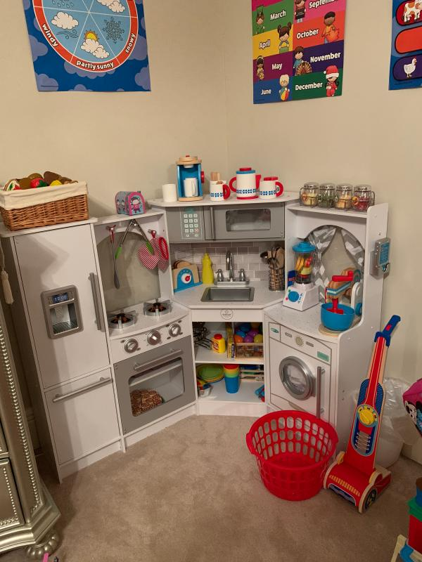 Ultimate Corner Play Kitchen With Lights Sounds White