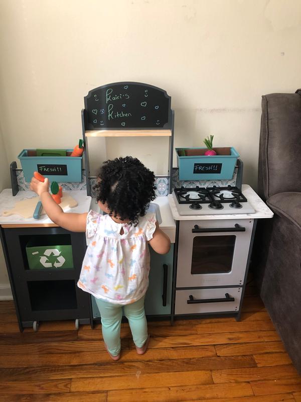 Kidkraft Garden Gourmet Play Kitchen With Ez Kraft Assembly Kidkraft