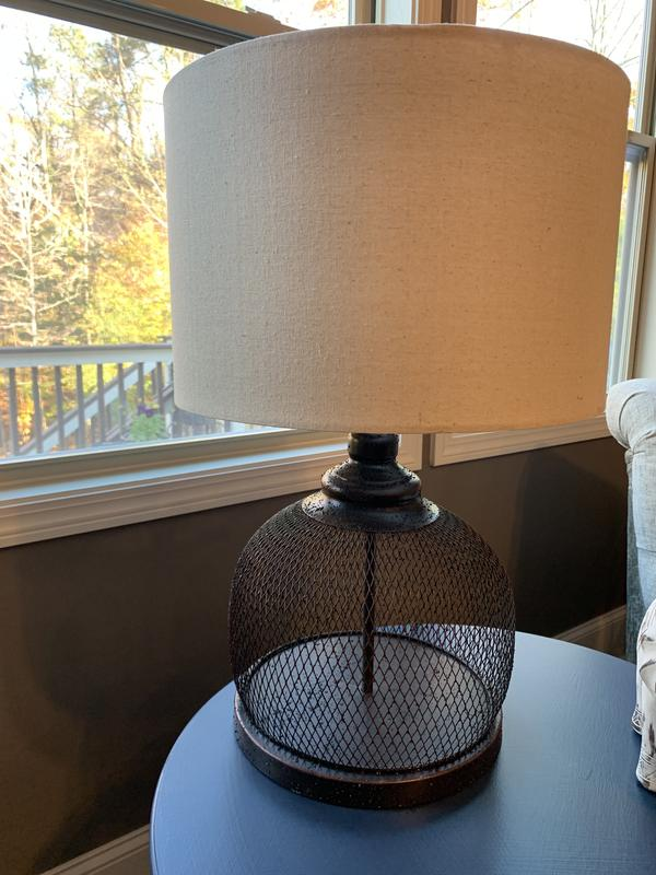Brown Wire Farmhouse Table Lamp Kirklands