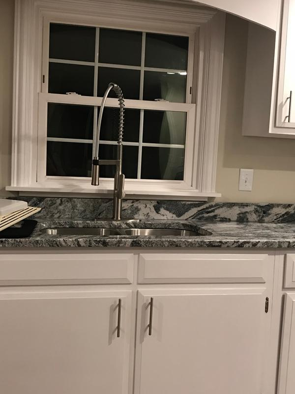 Review Photo 1 Originally Posted On Kraus Nola Single Handle Commercial Style Kitchen Faucet With Dual Function Sprayer In Stainless Steel