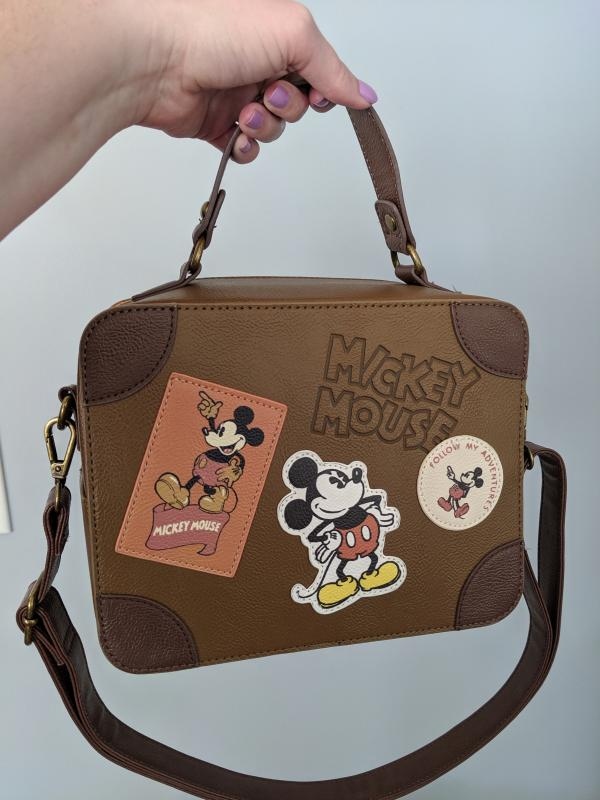 Loungefly Disney Mickey Mouse Suitcase Bag