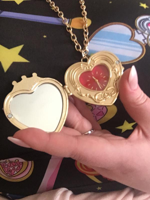 Sailor Moon Cosmic Heart Compact Locket Watch Necklace