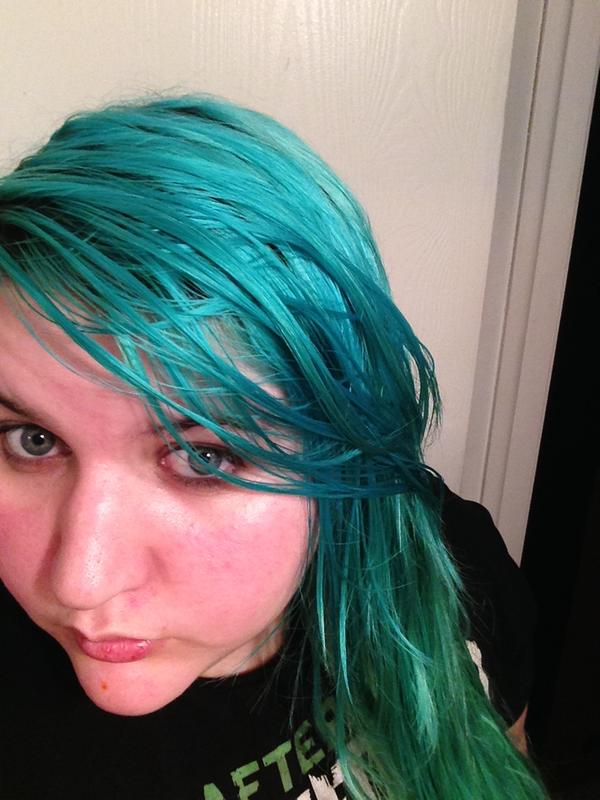 Turquoise To Teal Color Melt Hair Painting By Jennifer Malloy