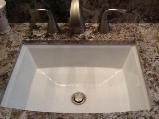 KOHLER Archer Vitreous China Undermount Bathroom Sink in White with ...
