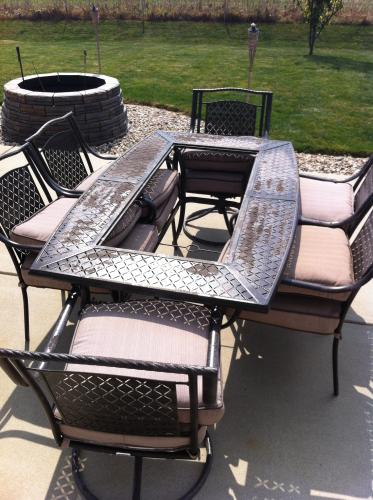 Martha Living Mallorca 7 Piece Patio Dining Set With Beige Cushions Discontinued 1 10 202 Dsete At The Home Depot Mobile