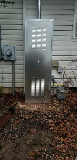 Holdrite 24 In Galvanized Steel Water Heater Enclosure Qs E24 At