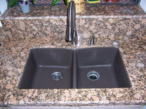 Beau Glacier Bay Dual Drop In UnderMount Granite Composite 33 In. 3 Hole Double  Bowl Kitchen Sink In Slate 441167 At The Home Depot   Mobile