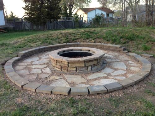 Customer Images (19). Excellent Firepit! - 44 In. Random Stone Brown Round Fire Pit Kit RSFPB At The Home Depot